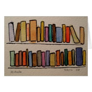 Tarjeta 33 libros