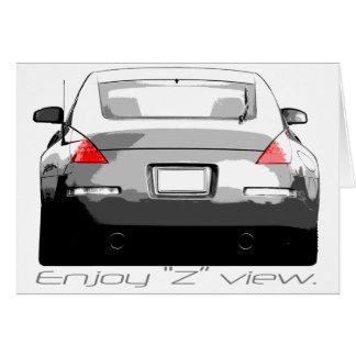"""Tarjeta 350Z """"Enjoytheview. """""""