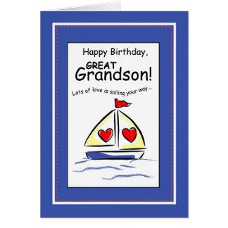 Tarjeta 3541 grande - cumpleaños religioso del velero del