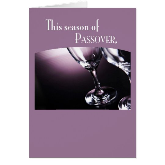Tarjeta 3566 copas de vino del Passover