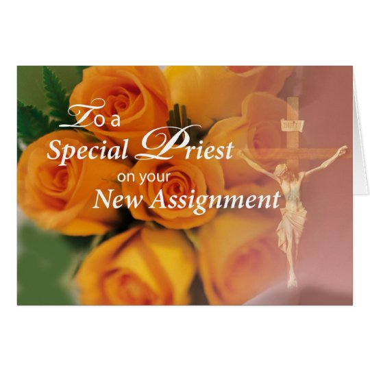 Tarjeta 3764 bendiciones al sacerdote en la nueva