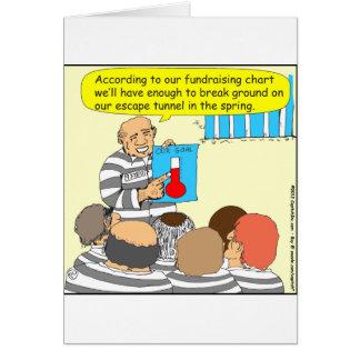 Tarjeta 387 fundraising en dibujo animado de la cárcel
