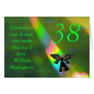 Tarjeta 38.o Cita de hadas verde de Willam Shakepeare del