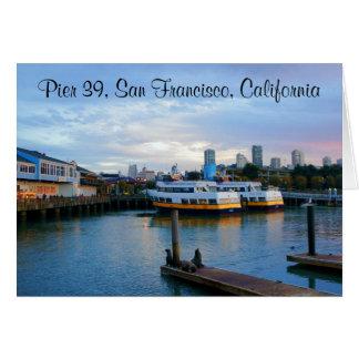 Tarjeta #3-3 del embarcadero 39 de San Francisco