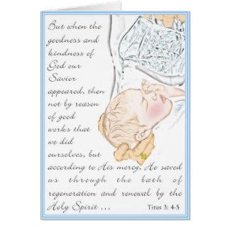 Tarjeta 3:4 de Titus del bautismo - baño 5 de regeneración