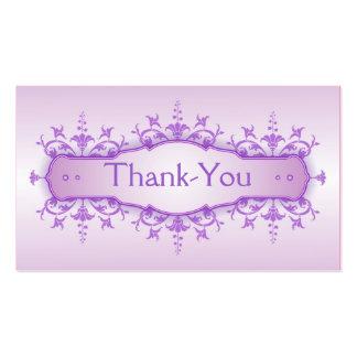 Tarjeta 3 del de agradecimiento del boda tarjeta de negocio