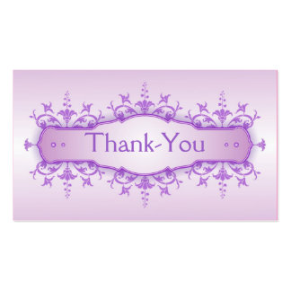 Tarjeta 3 del de agradecimiento del boda tarjetas de visita