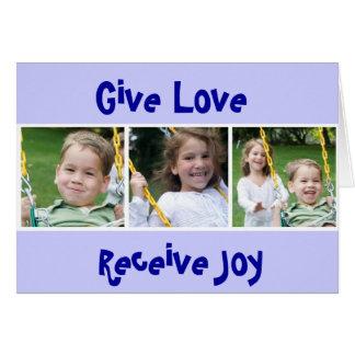 Tarjeta 3 THOMASES, dan amor, reciben alegría