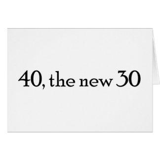 Tarjeta 40, los nuevos 30