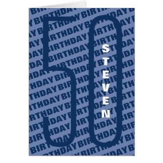 Tarjeta 40.o Azul personalizado cumpleaños