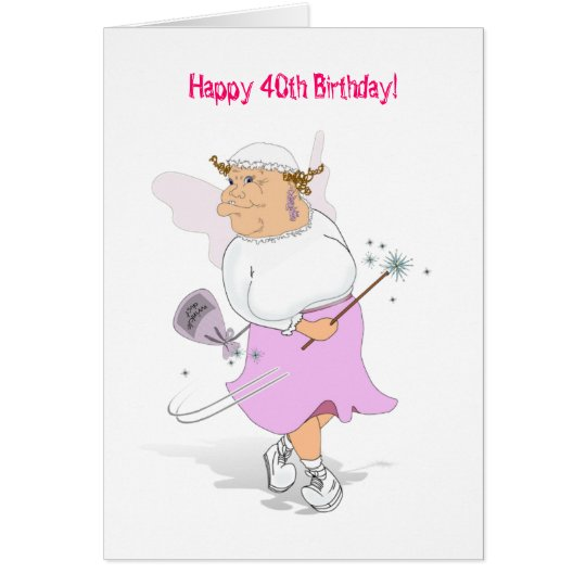 Tarjeta ¡40.o cumpleaños feliz!
