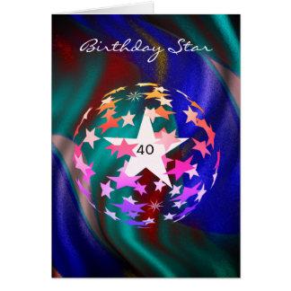 Tarjeta 40.o Estrella del cumpleaños (añada la fotografía)