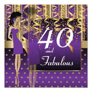 Tarjeta 40.o Fiesta del golpe del cumpleaños