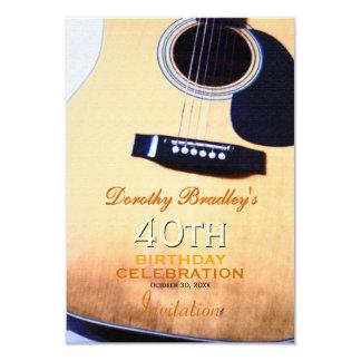 Tarjeta 40.o personalizado de la celebración del