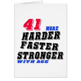 Tarjeta 41 más fuertes más rápidos más duros con edad
