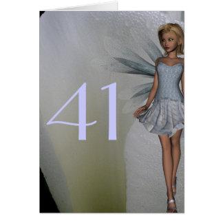 Tarjeta 41.o Cumpleaños
