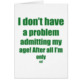 Tarjeta 43 admita mi edad