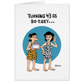 Tarjeta 43.o cumpleaños chistoso