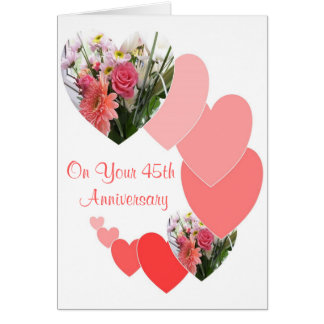 Tarjeta 45.o Aniversario de boda