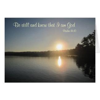 Tarjeta 46:10 del salmo - todavía esté y sepa que soy dios