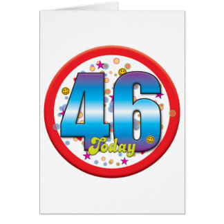 Tarjeta 46.o Cumpleaños hoy v2