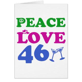 Tarjeta 46.o Diseños del aniversario