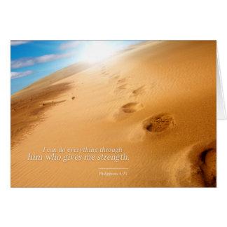 Tarjeta 4:13 de los filipenses: Puedo hacer todo a través