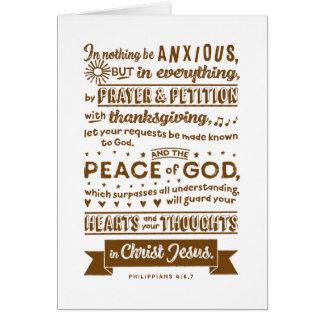 Tarjeta 4:6 de los filipenses, 7