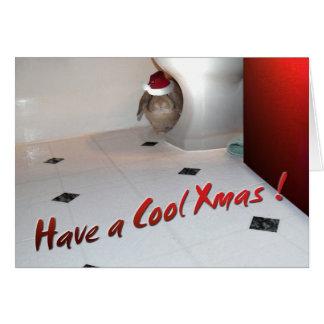 Tarjeta 4 de Navidad del conejito