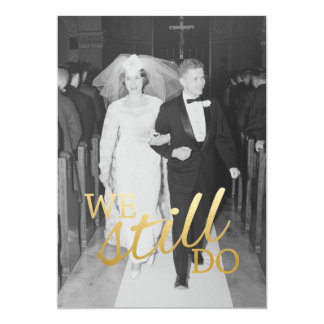 Tarjeta 50.o Aniversario de boda con la foto - todavía