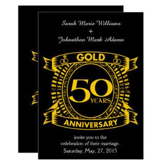 Tarjeta 50.o Aniversario de boda del oro