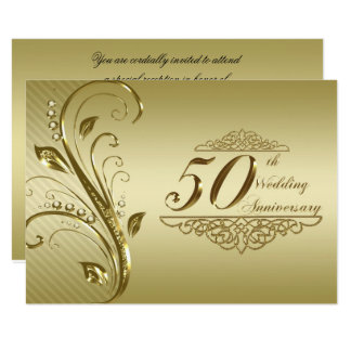 Tarjeta 50.o Aniversario de boda RSVP