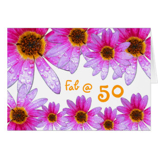 Tarjeta ¡50.o cumpleaños feliz!