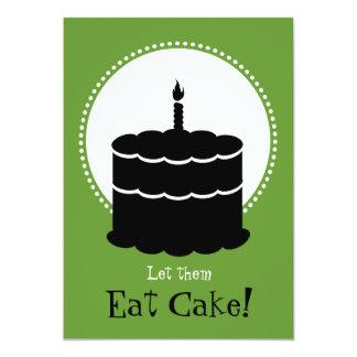 Tarjeta 50.o cumpleaños - Margarita contra la torta