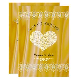 Tarjeta 50.o Diamantes del oro de la celebración del