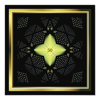 Tarjeta 50.o Ilustraciones de la estrella del amarillo del