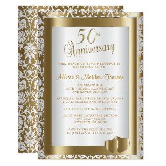 Tarjeta 50.o Texto del aniversario de boda de oro el | DIY