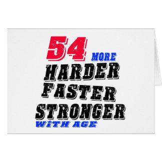 Tarjeta 54 más fuertes más rápidos más duros con edad