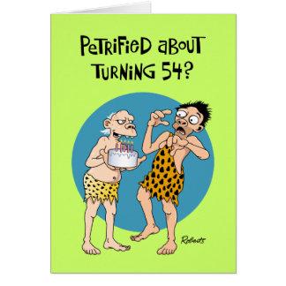 Tarjeta 54.o saludo divertido del cumpleaños