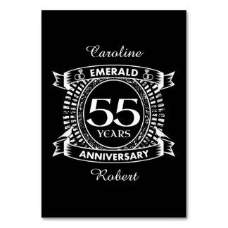 Tarjeta 55.o escudo de la esmeralda del aniversario de