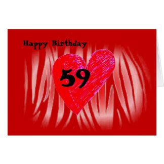Tarjeta 59.o Cumpleaños