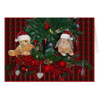 Tarjeta 5 de Navidad del conejito