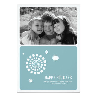 Tarjeta 5x7 de la foto del navidad del Spirograph Invitación 12,7 X 17,8 Cm