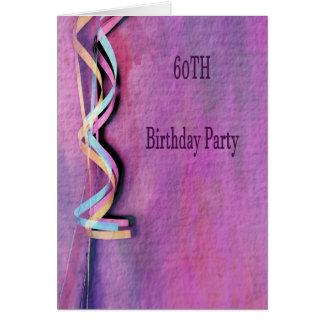 Tarjeta 60.a fiesta de cumpleaños