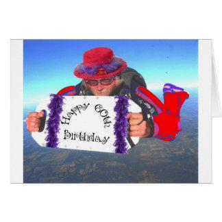 Tarjeta 60.o cumpleaños feliz