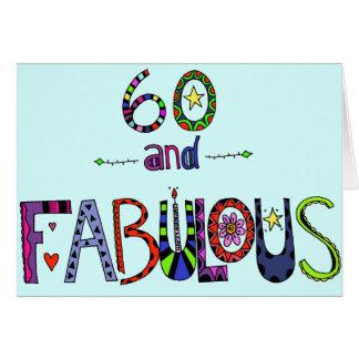 Tarjeta 60.o cumpleaños feliz - globos del cumpleaños