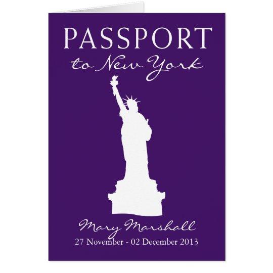 Tarjeta 60.o pasaporte del cumpleaños de New York City