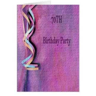 Tarjeta 70.a fiesta de cumpleaños