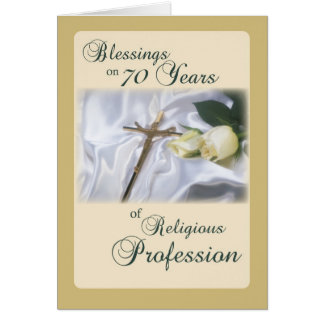 Tarjeta 70 años de profesión religiosa para la monja