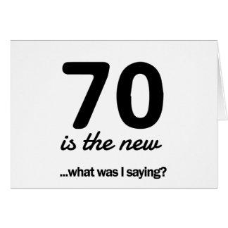 Tarjeta ¿70 el nuevo… cuál era yo está diciendo?